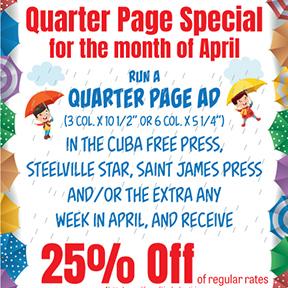 April Quarter Page Special