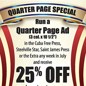 July Quarter Page Special